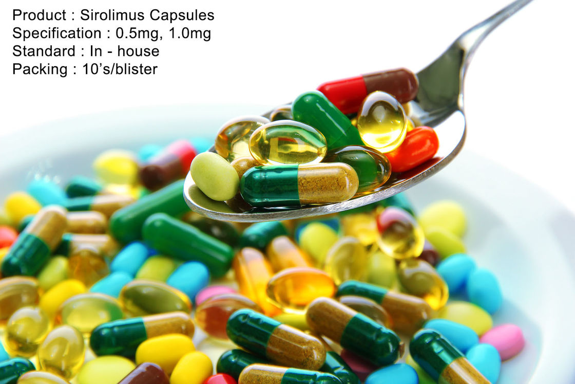 Sirolimus Capsules 0.5mg, 1.0mg Oral Medications